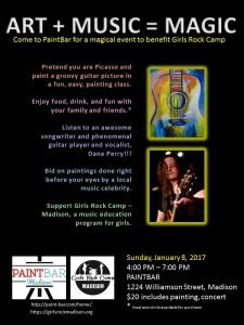 GRC Paintbar fundraiser featuring Dana Perry