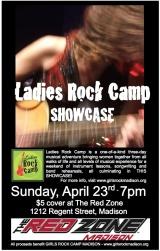 Ladies Rock Camp AprilShowcase